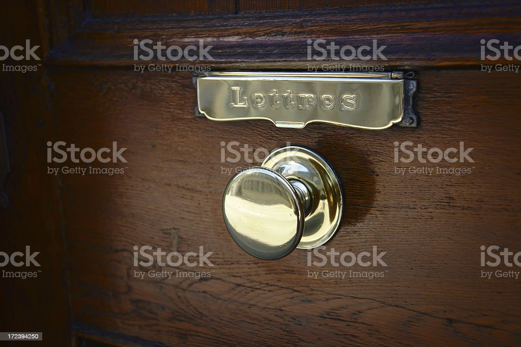 Antique Doorknob royalty-free stock photo