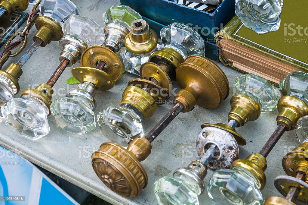 Antique Doorknobs stock photo