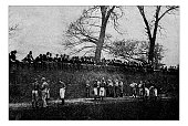 Antique dotprinted photograph of Hobbies and Sports: Eton Football Wall
