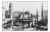 Antique dotprinted photographs of Italy: Alpine lakes, Riva del Garda