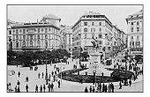 Antique dotprinted photographs of Italy: Liguria, Genoa