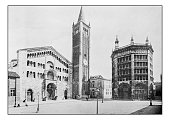 Antique dotprinted photographs of Italy: Lombardy and Emilia, Parma Cathedral