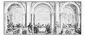 Antique dotprinted photographs of Italy: Paintings by Veronese