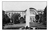 Antique dotprinted photographs of Italy: Turin, Train Station