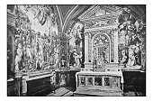 Antique dotprinted photographs of Italy: Tuscany, Siena, San Domenico church