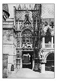 Antique dotprinted photographs of Italy: Venice, Palazzo Ducale