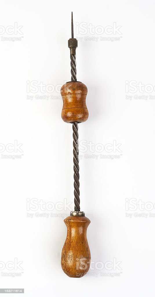Antique Drill(Hand Powered) royalty-free stock photo