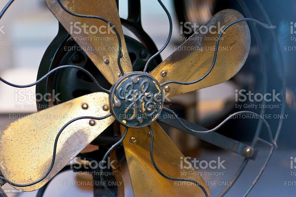 Antique Electric Fan General Electric 1905 stock photo