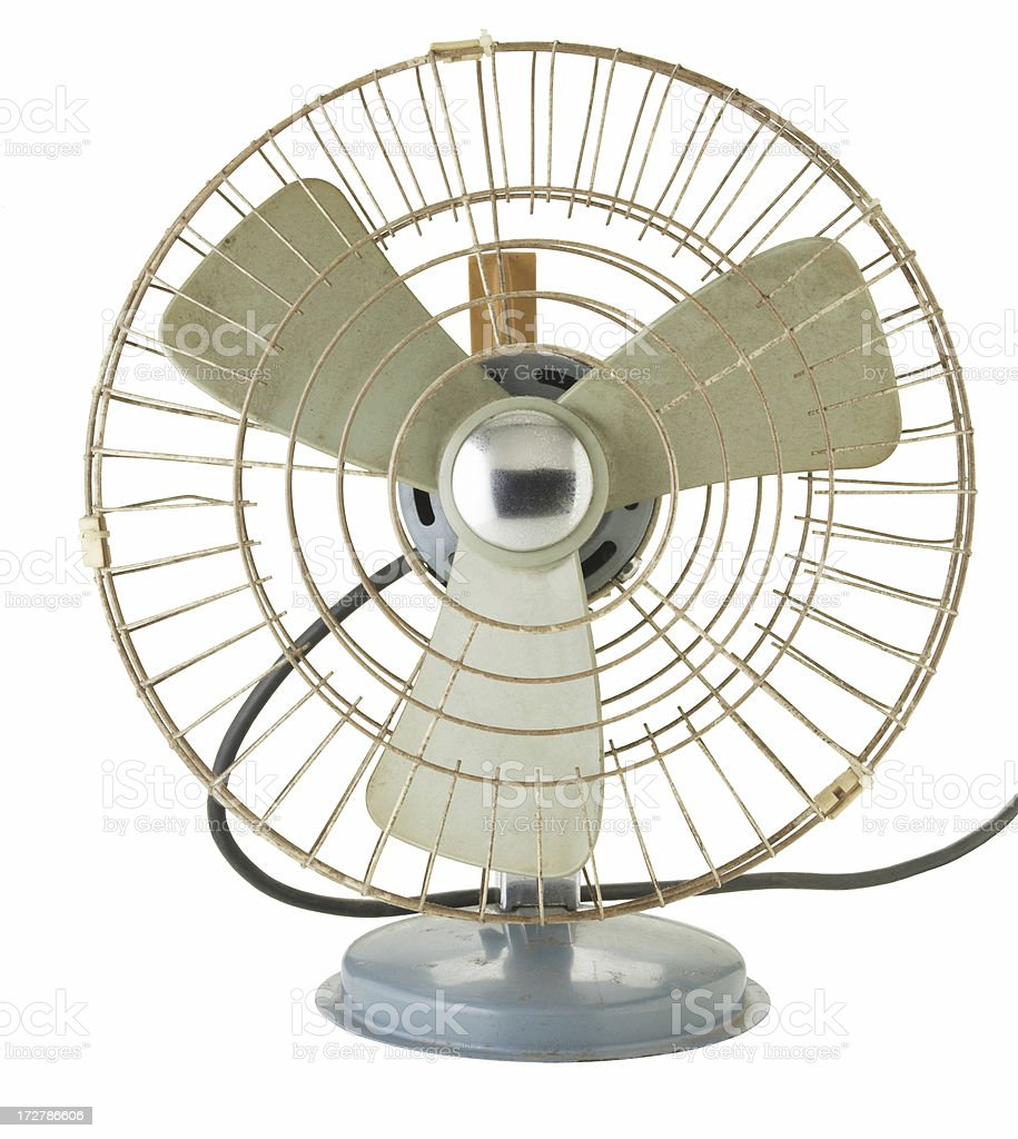 Antique electric fan stock photo