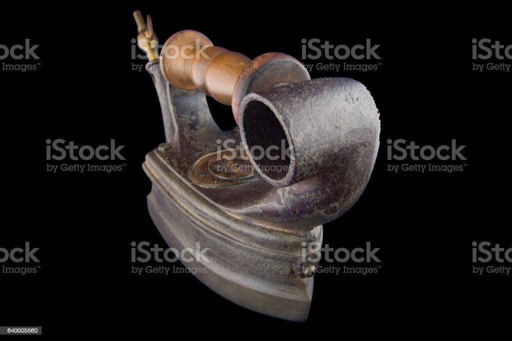Antique English gas iron stock photo