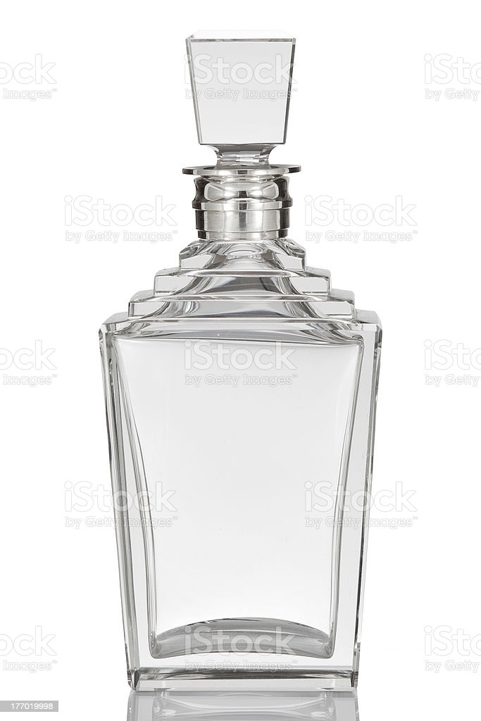 Antique English Glass Decanter royalty-free stock photo