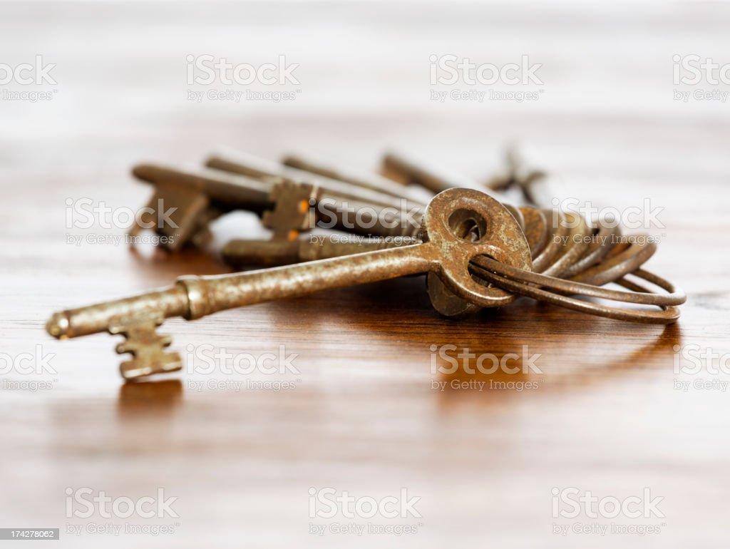 Antique English Keys royalty-free stock photo