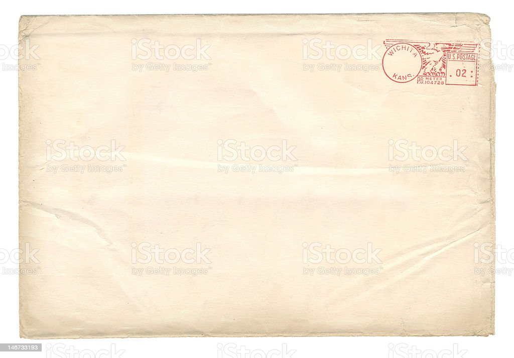 Antique Envelope stock photo