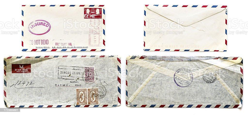 antique envelopes royalty-free stock photo