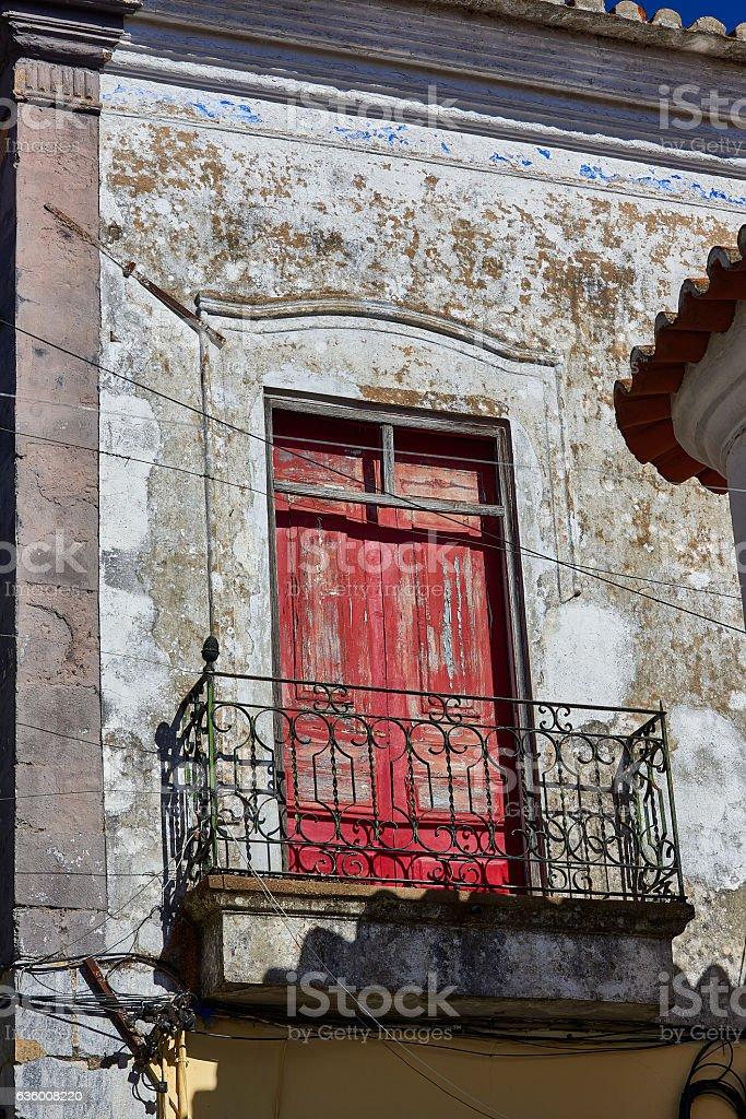 Antique european building with balcony. Spain stock photo