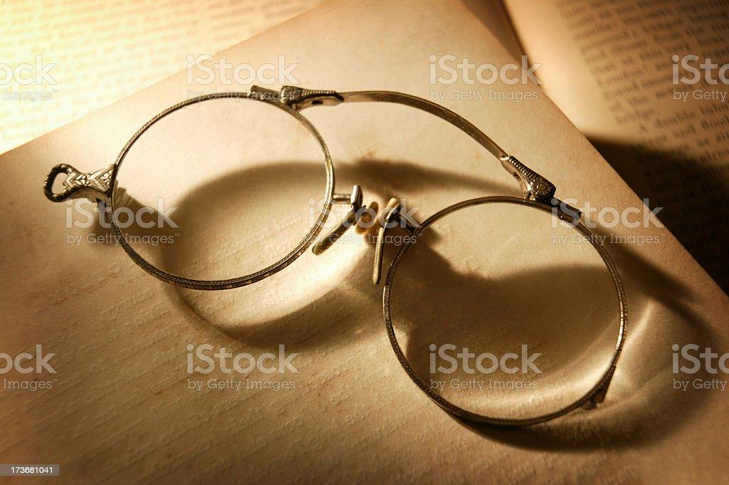 Antique Eyeglasses 2 royalty-free stock photo