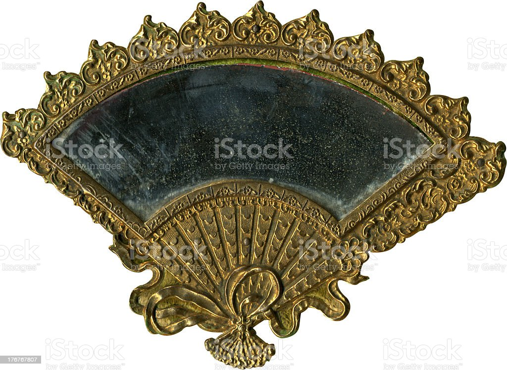 Antique fan frame royalty-free stock photo