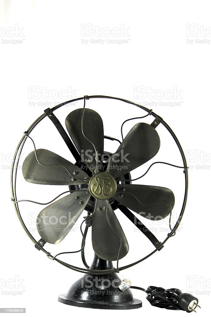 Antique fan. stock photo