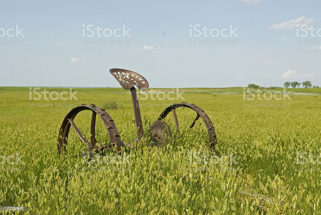 antique farm equipment royalty-free stock photo