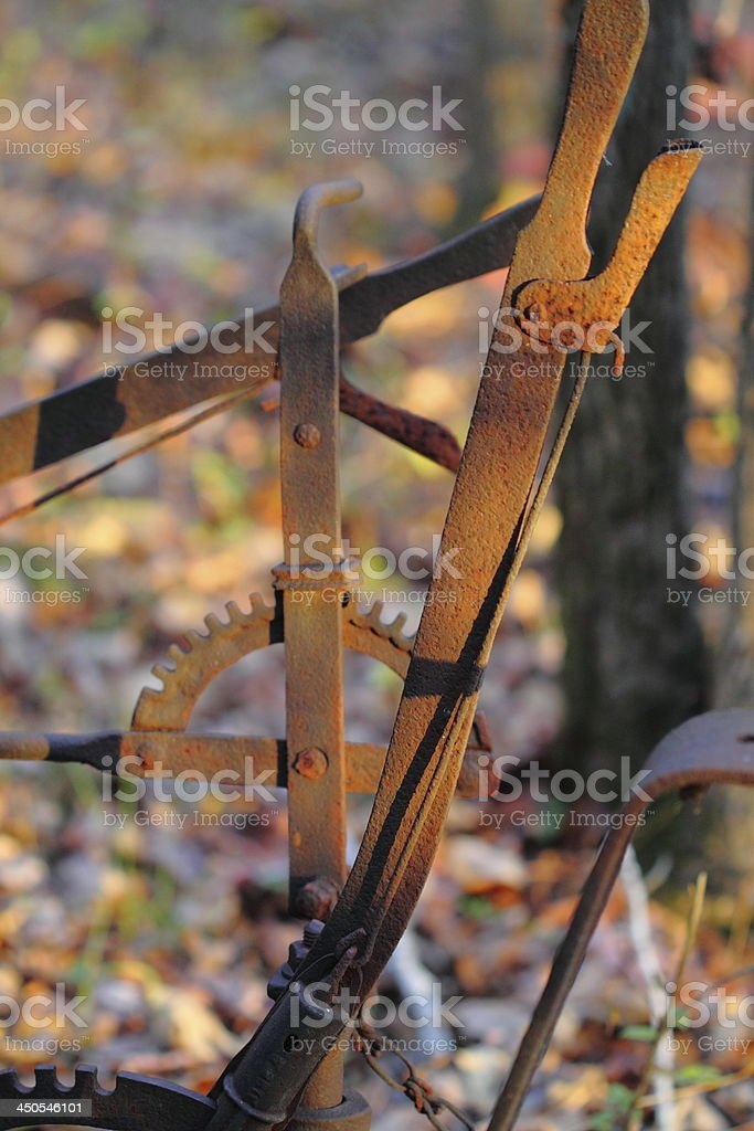 Antique Farm Machinery Arm royalty-free stock photo