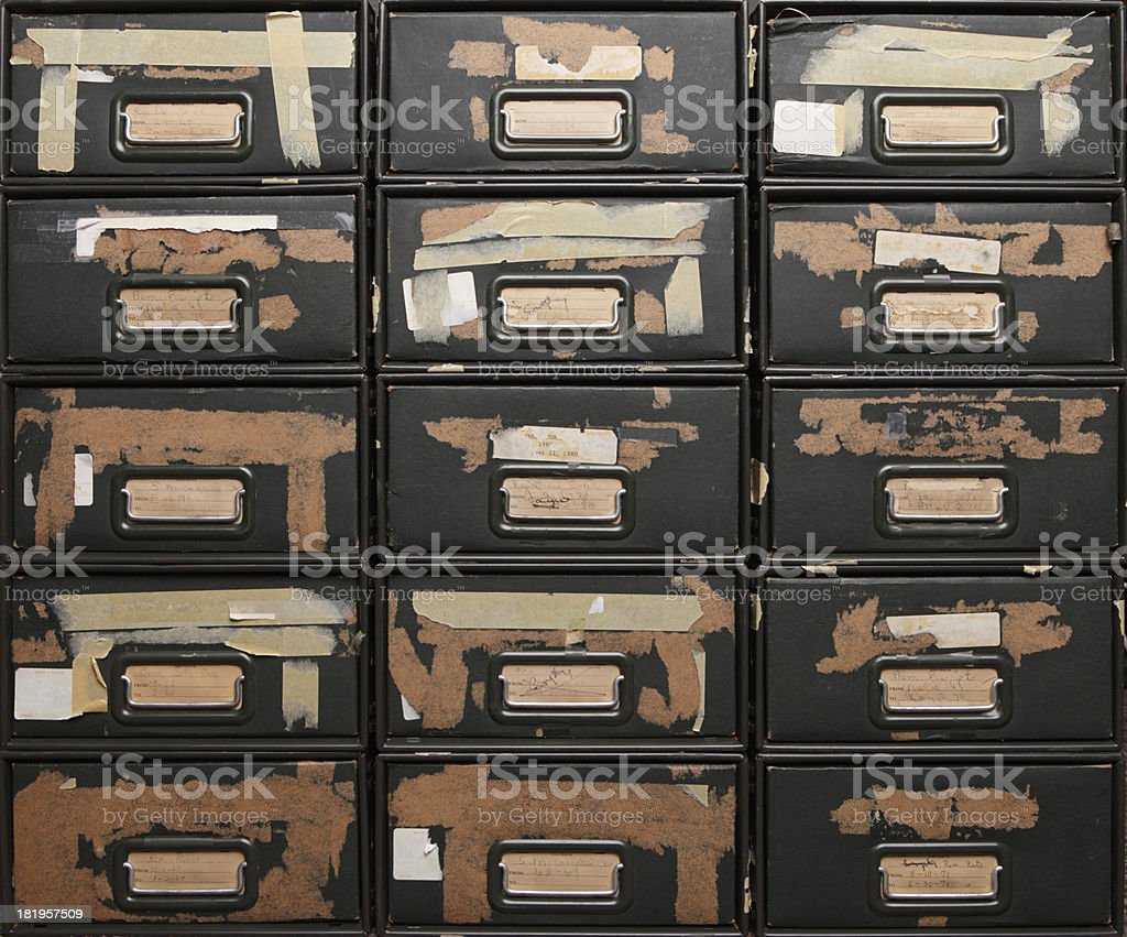 Antique Filing Cabinets royalty-free stock photo