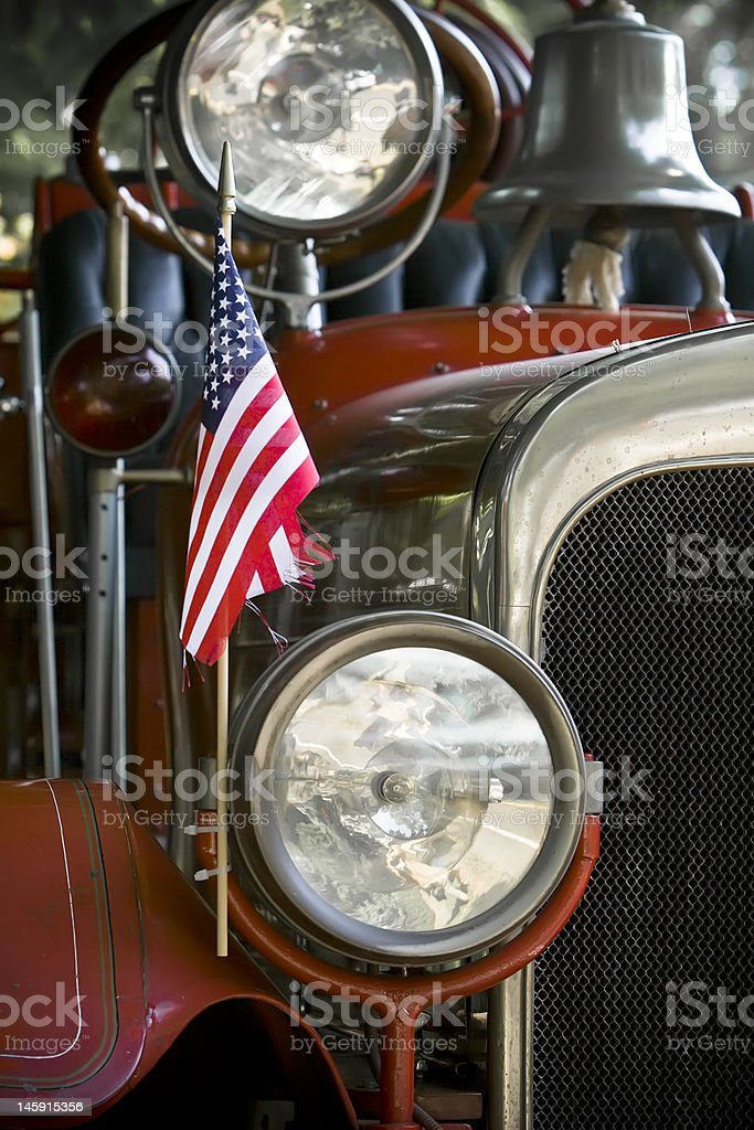 Antique Fire Truck stock photo