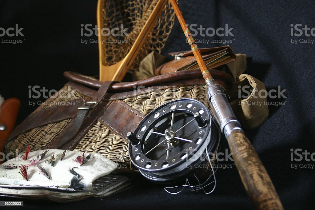 Antique fishing gear royalty-free stock photo