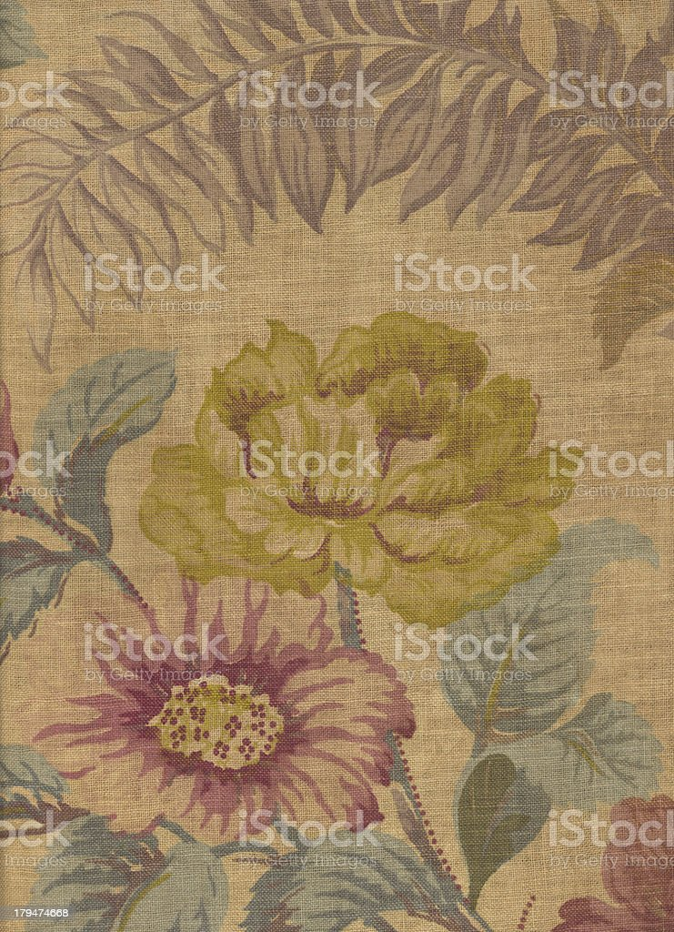 Antique Floral Fabric #2 royalty-free stock photo