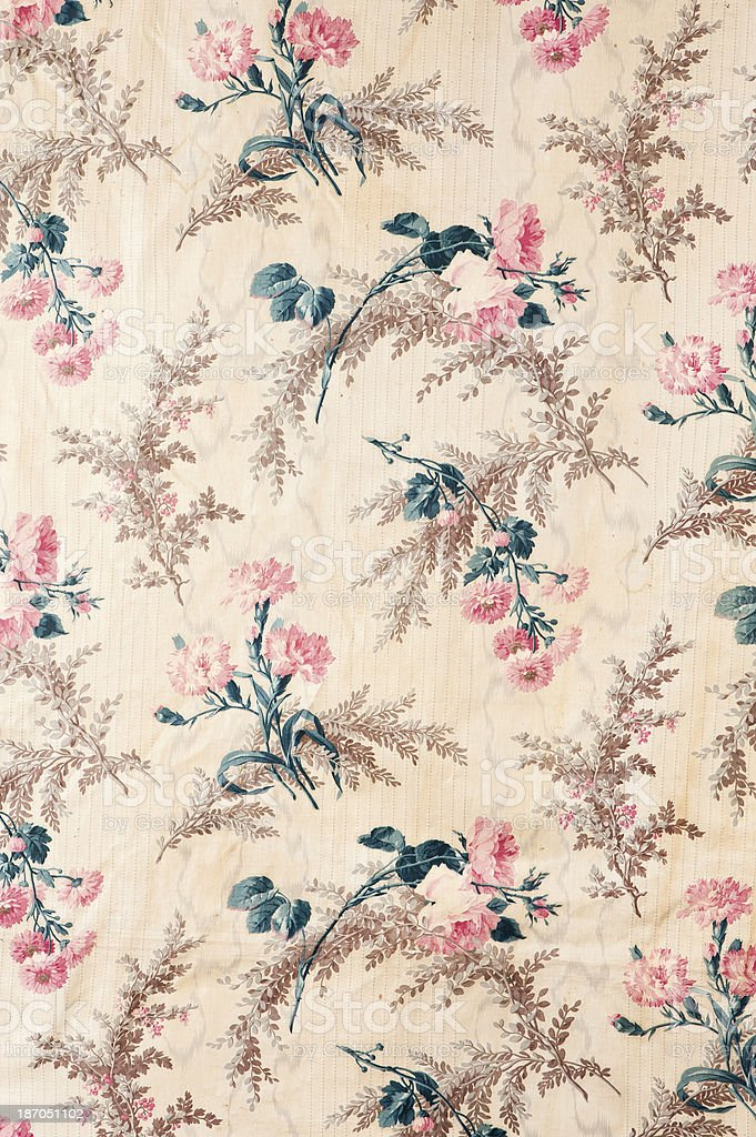 Antique Floral Fabric stock photo