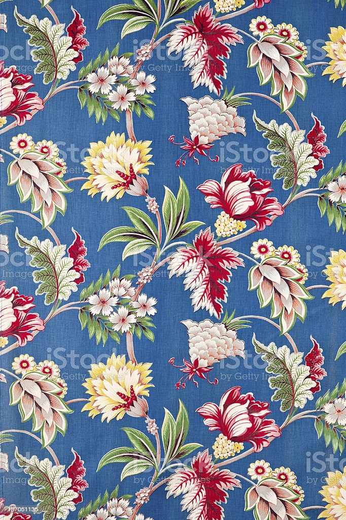 Antique Floral Fabric royalty-free stock photo