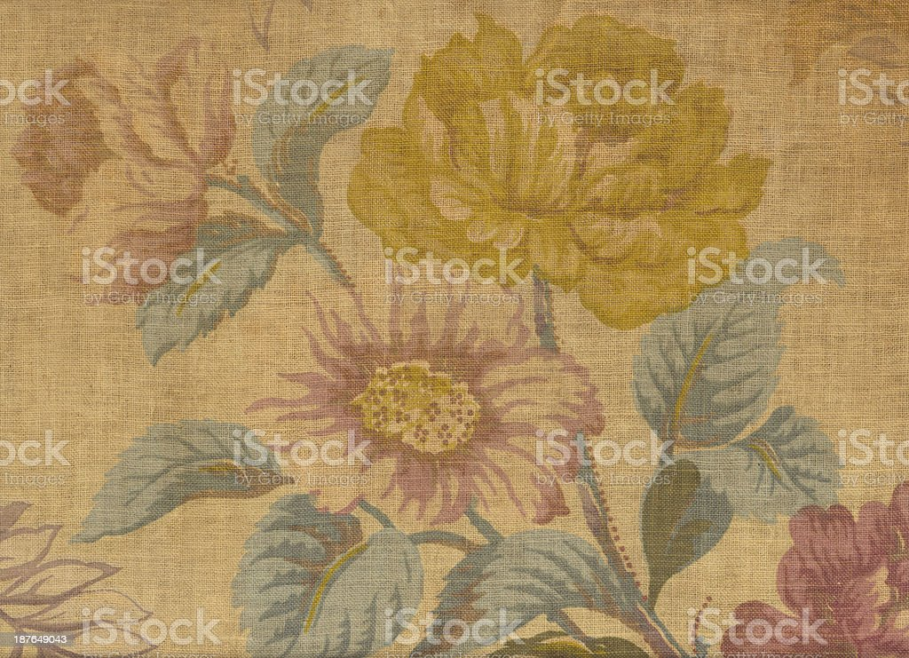 Antique Floral Fabric #3 royalty-free stock photo
