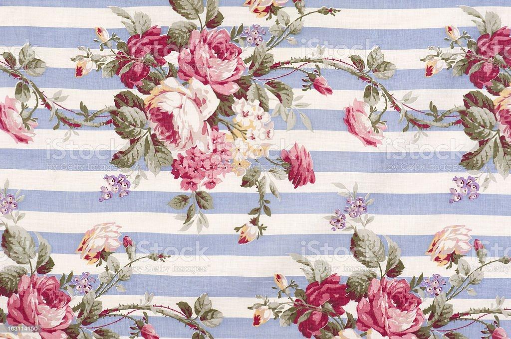 Antique Floral Fabric SB30 Close Up stock photo