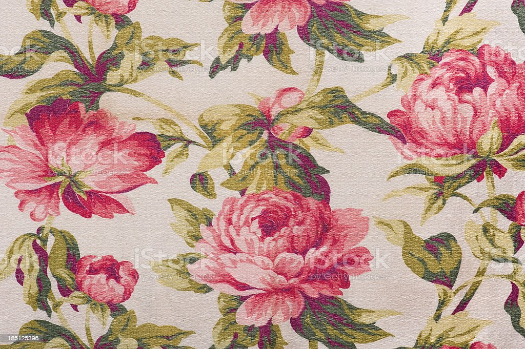 Antique Floral Fabric SB60 Close Up royalty-free stock photo