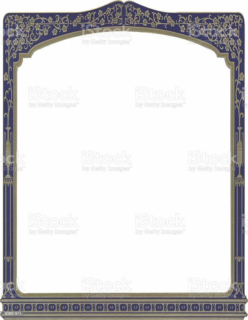 Antique flower-urn ornate frame royalty-free stock photo