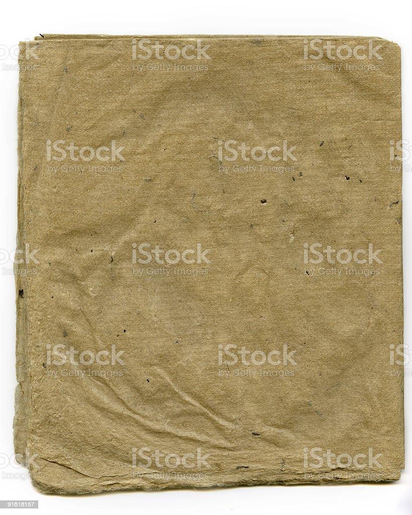 Antique Folded Japanese Rice Paper stock photo