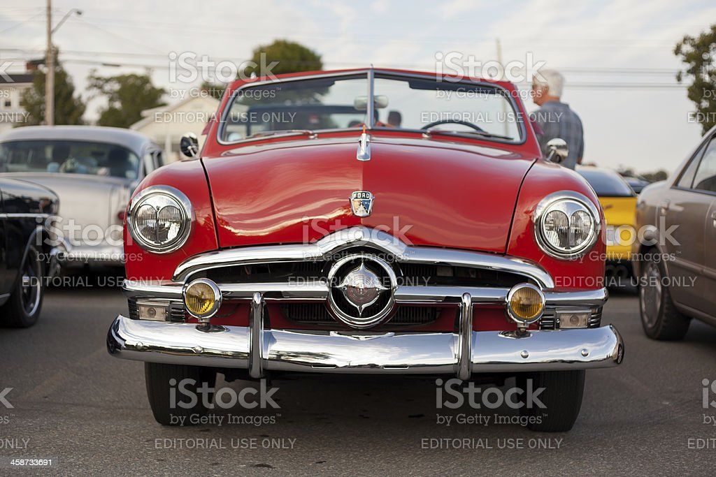 Antique Ford Convertible stock photo
