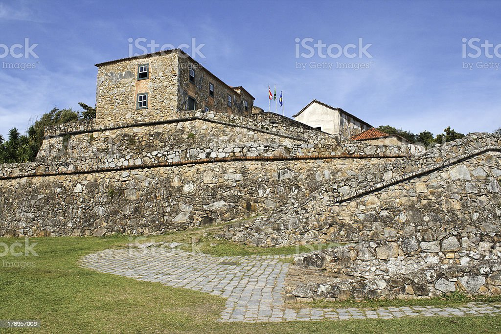 Antique fortress built in 1740 stock photo