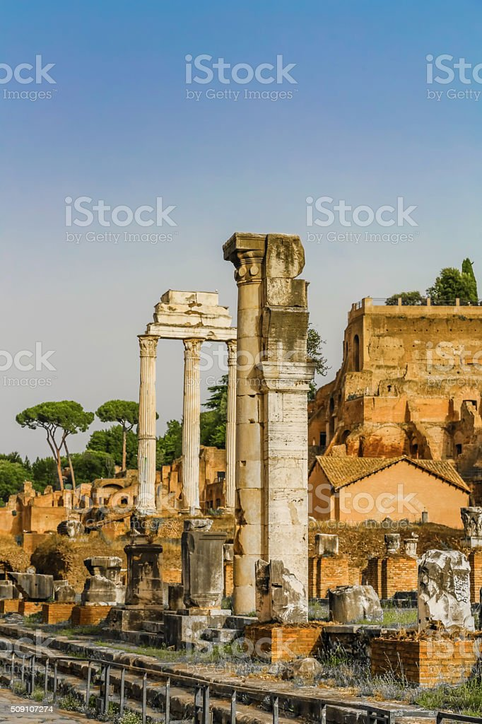 Antique Forum of Rome, Italy stock photo