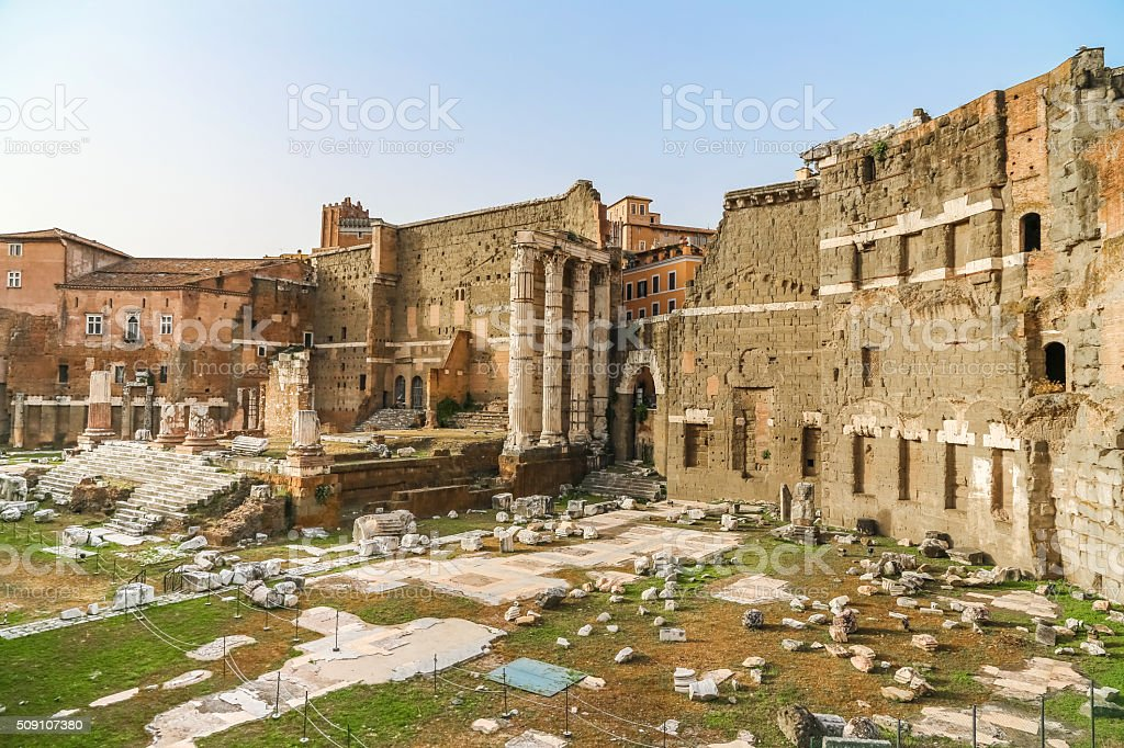 Antique Forum of Rome, Italy stock photo