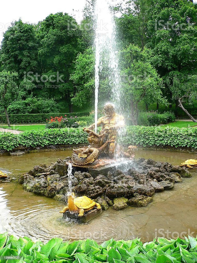Antique fountain royalty-free stock photo