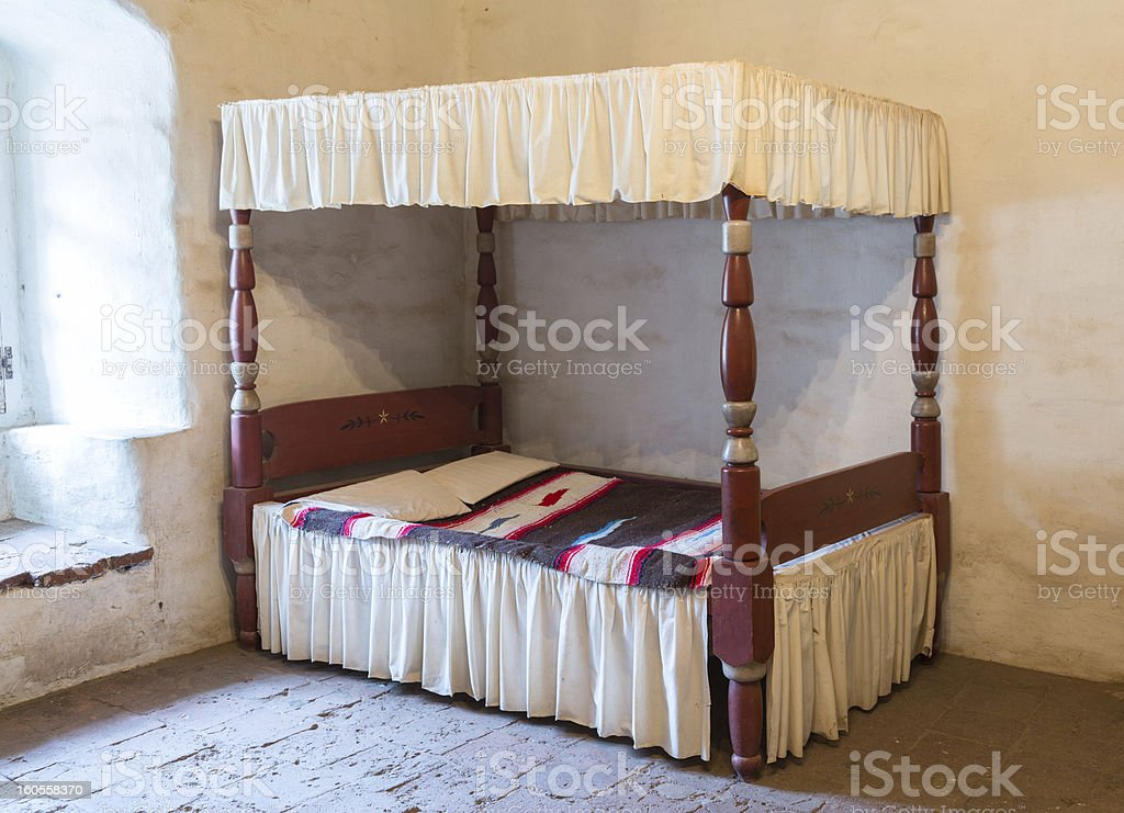 Antique four poster bed royalty-free stock photo