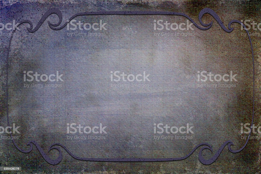 Antique Frame on Background With Texture stock photo