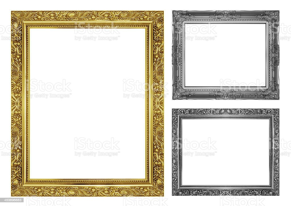 antique frame on the white background royalty-free stock photo
