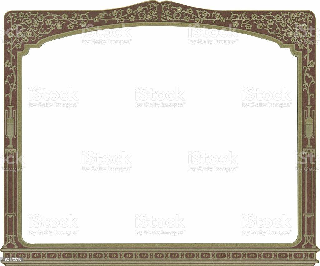 Antique frame w/flower&urn border royalty-free stock photo