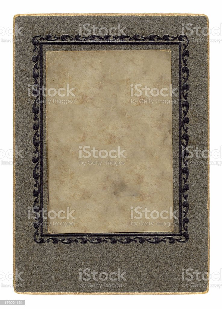 Antique Frame with Aging Layer royalty-free stock photo