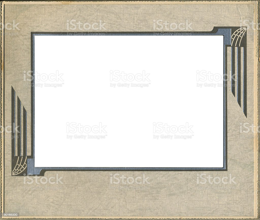 Antique frame with deco trim. royalty-free stock photo
