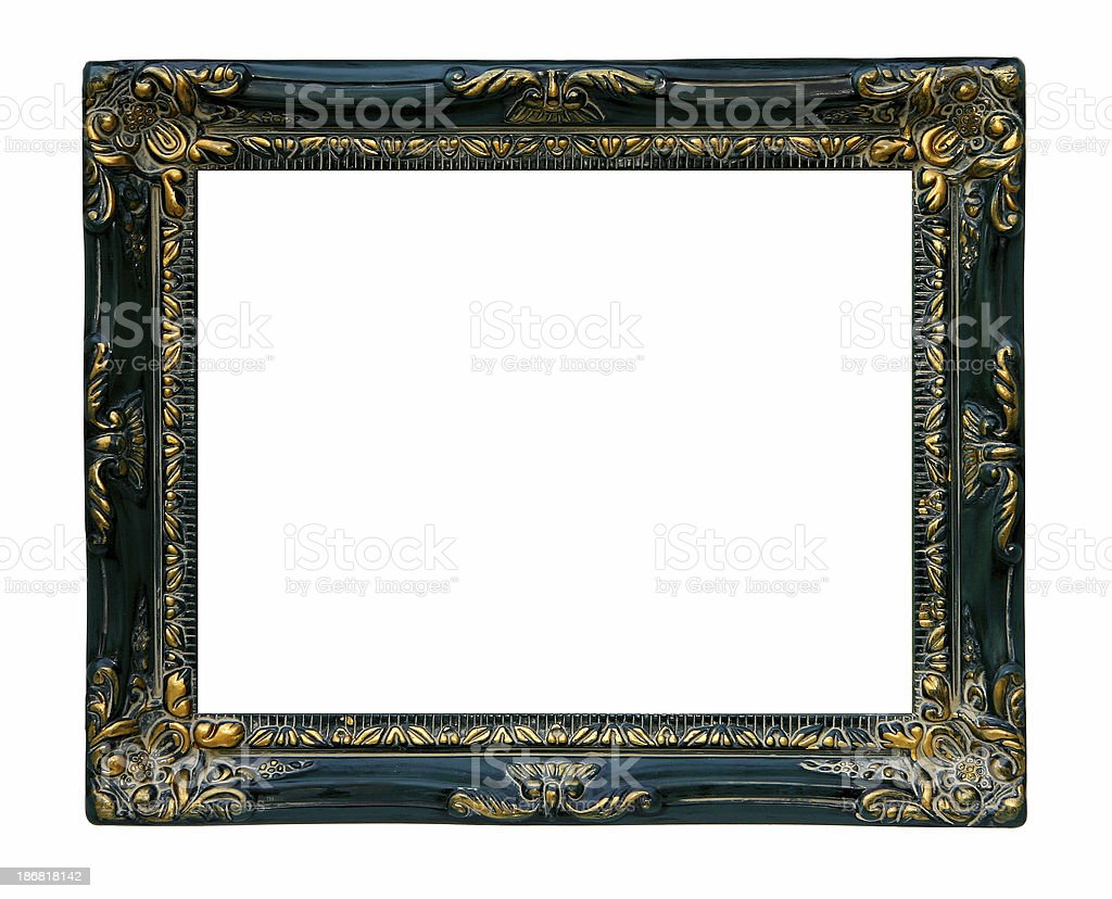 Antique Frame with Gold Inlay royalty-free stock photo