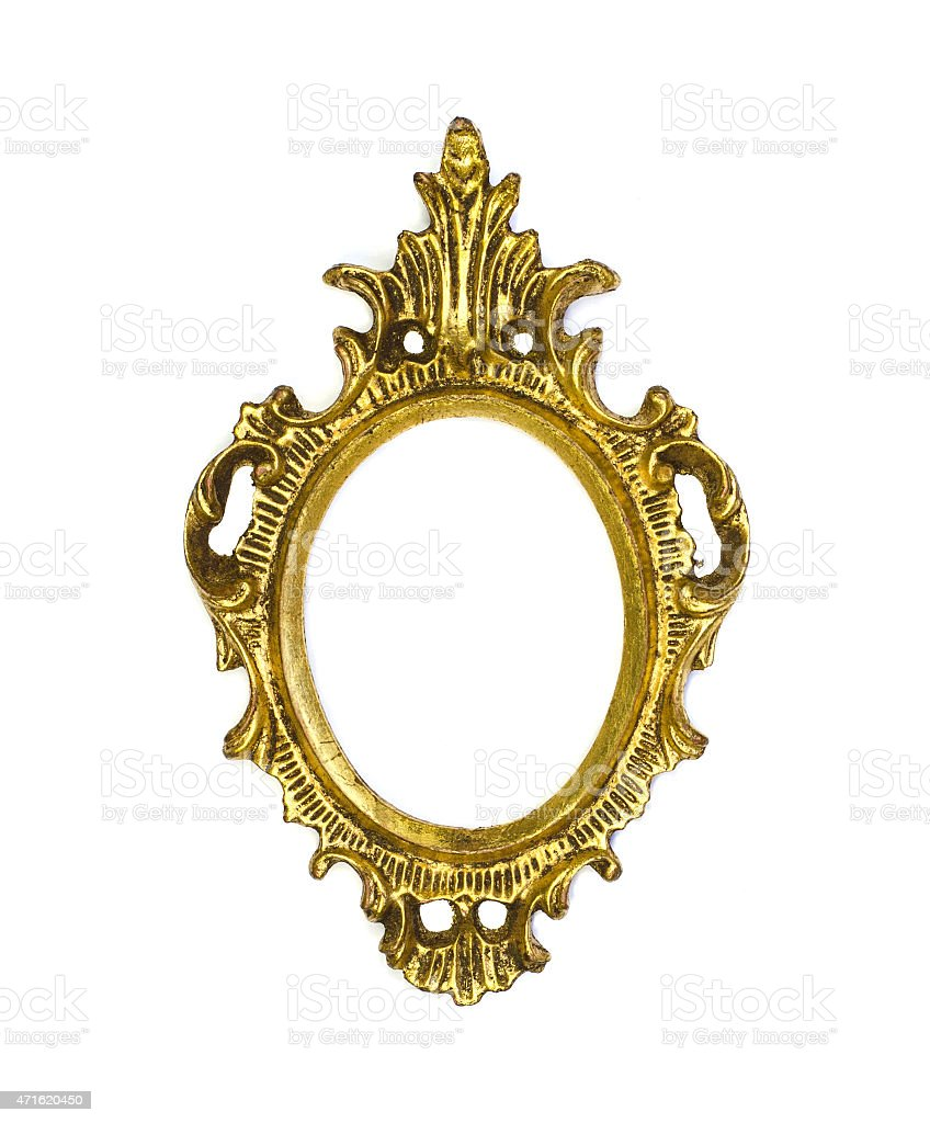 Antique french frame stock photo