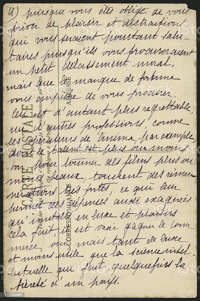 Antique French Handwriting XXL stock photo