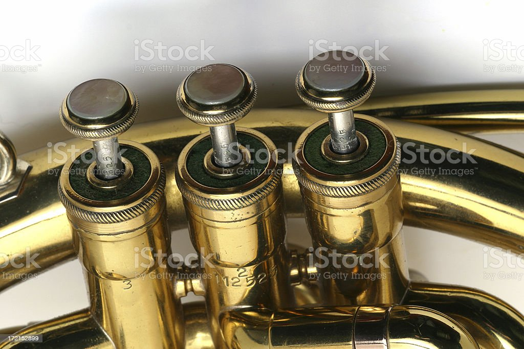 Antique French Horn royalty-free stock photo